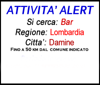 attività commerciale bar dalmine lombardia